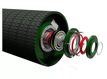 Structure Of Conveyor Pulley